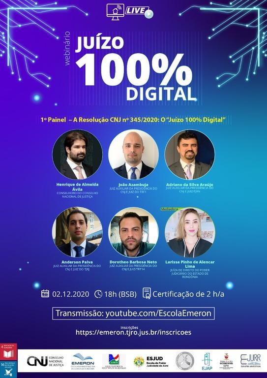 Escolas Judiciais da região Norte promovem, pela primeira vez, evento em rede, com o tema Juízo 100% Digital - Gente de Opinião