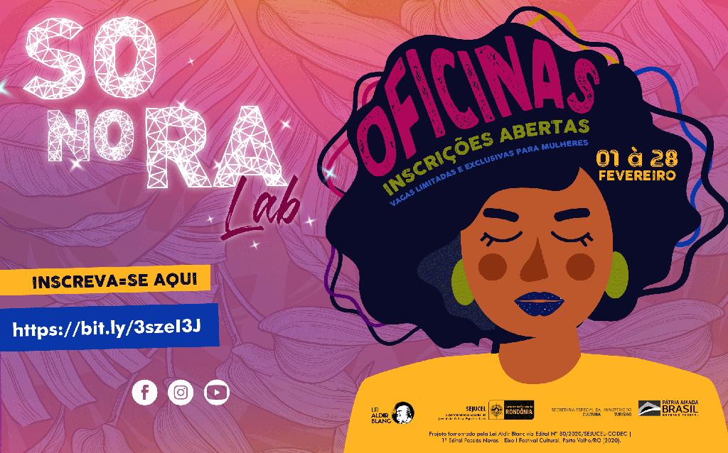 Inscrições abertas para as oficinas do SONORA LAB  - Gente de Opinião