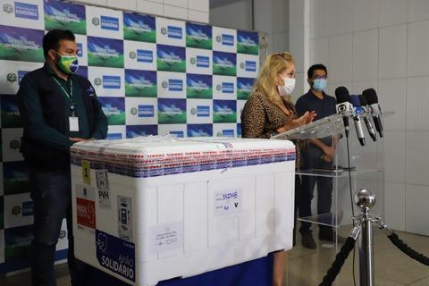 Porto Velho recebe lotes das vacinas Oxford e CoronaVac