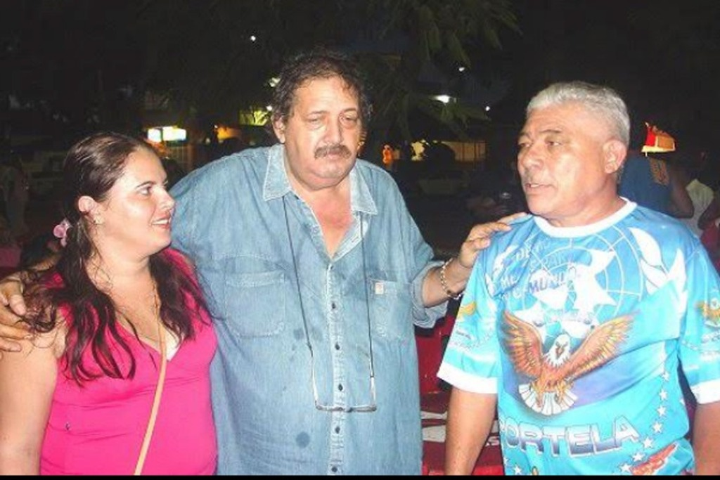 Manelao (c) com a filha Siça  e o parceiro Zé Katraca - Gente de Opinião