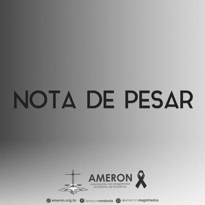 Nota Pública de Pesar da Ameron pelo falecimento do promotor de justiça Jonatas Albuquerque Pires Rocha