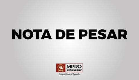 Nota de Pesar pelo falecimento do Promotor de Justiça Jonatas Albuquerque Pires Rocha