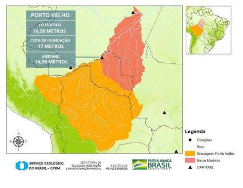 Acima do normal, cheia do rio Madeira apresenta tendência de estabilização de níveis