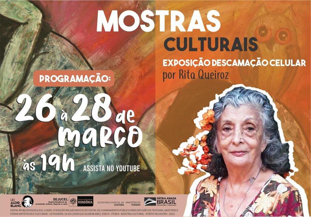 Lenha na Fogueira com a Lei Aldir Blanc e a Mostra Cultural da Artista Plástica Rita Queiroz - Gente de Opinião