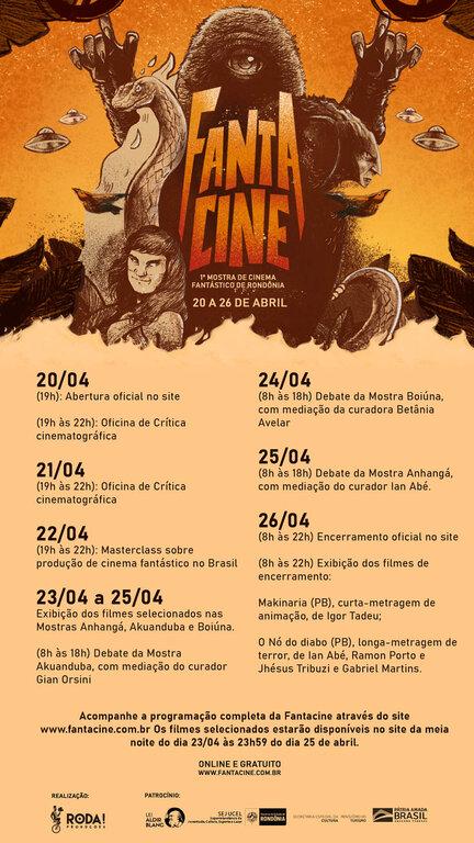1ª Mostra de Cinema Fantástico de Rondônia divulga programação com a exibição de 26 filmes, debates e ações de formação - Gente de Opinião