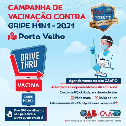 H1N1: CAARO vacina advogados de Porto Velho na próxima semana - Gente de Opinião