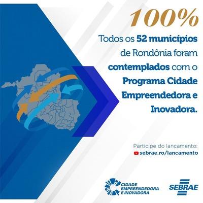 Rondônia chega a 100% dos municípios aderindo ao programa Cidade Empreendedora