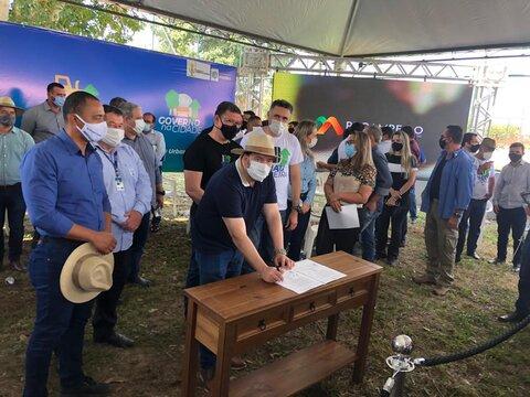 Presidente Alex Redano participa do lançamento do Tchau Poeira em Pimenta Bueno