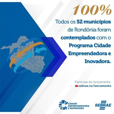 Rondônia chega a 100% dos municípios aderindo ao programa Cidade Empreendedora - Gente de Opinião