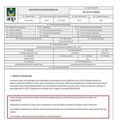 Fiscalização da ANP e IPEM desmonta fake-news contra posto de combustíveis