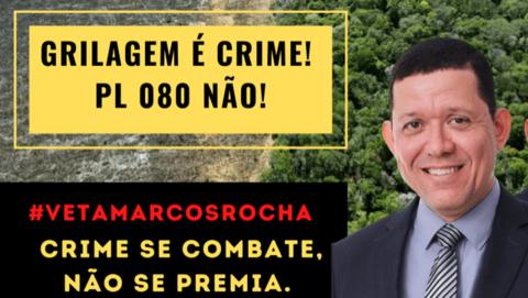 PGE opina por veto do governador a projeto que para ambientalistas legaliza a grilagem