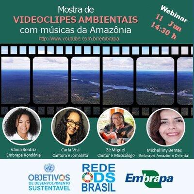 A música da Amazônia em videoclipes ambientais é tema de live da Embrapa