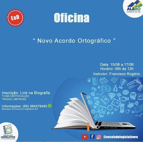 Escola do Legislativo oferece Oficina sobre Novo Acordo Ortográfico - Gente de Opinião