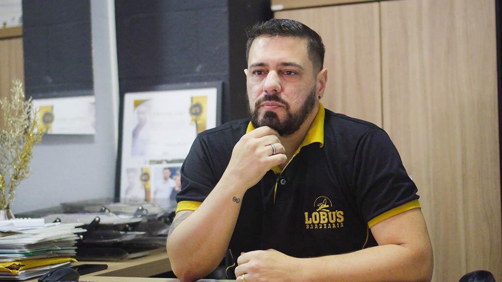 Rodrigo Cordeiro, sócio proprietário da Lobus Barbearia - Gente de Opinião