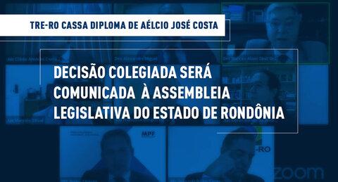 """TRE-RO cumpre decisão que cassou o diploma de """"Aélcio da TV"""""""
