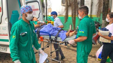 """Operação """"Esvazia João Paulo II"""" transferiu 38 pacientes para outros hospitais neste final de semana, em Porto Velho"""