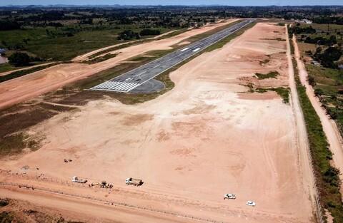 DER conclui obra de infraestrutura interna do Aeroporto de Ji-Paraná e inicia recapeamento da rodovia de acesso