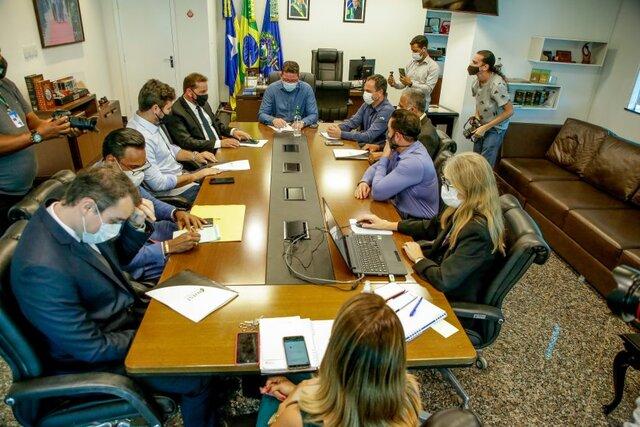 Ações foram tratadas no gabinete do governador Marcos Rocha na quarta-feira (14) - Gente de Opinião