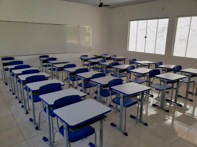Salas de aulas terão distanciamento de 1 metro entre as carteiras para o retorno gradual das aulas presenciais - Gente de Opinião