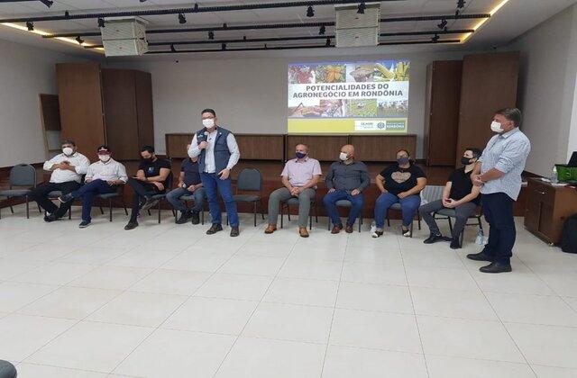 Potencialidades do agronegócio são tratadas em reunião do Governo de Rondônia com produtores de Vilhena