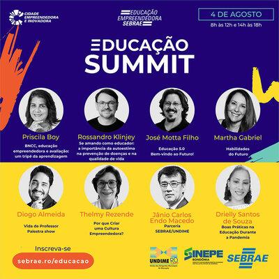 Sebrae, Undime e Sinepe realizam Educação Summit em agosto