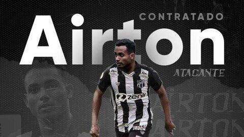 Com 22 anos, Airton chega como esperança de gol ao Ceará