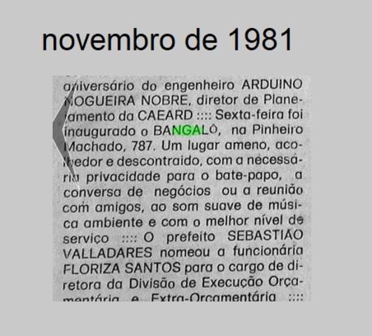 BANGALÔ BAR - Um pouco da memória política de Rondônia virou a página - Gente de Opinião
