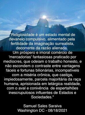 Religiosidade é um estado mental de devaneio compulsivo