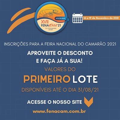 Feira Nacional do Camarão 2021 será realizada em novembro na cidade de Natal (RN)