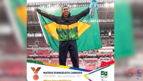 Rondoniense conquista o bronze nas Paralimpíadas de Tóquio