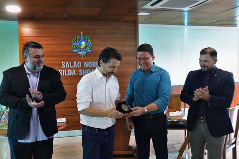 Governador Marcos Rocha recebe visita do ministro do Meio Ambiente e reforça compromisso com desenvolvimento sustentável