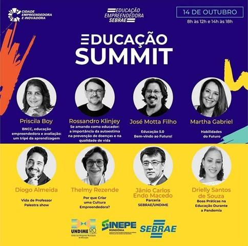 Sebrae, Undime e Sinepe realizam Educação Summit em outubro - Gente de Opinião
