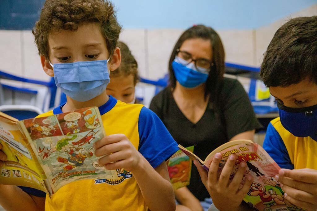 Alunos da rede municipal de ensino são incentivados à leitura após retorno das aulas presenciais em Porto Velho - Gente de Opinião