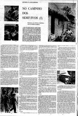 A Terceira Margem – Parte CCCXXIII - Expedição Centenária Roosevelt-Rondon 3ª Parte – XXXI  No Caminho dos Semivivos - I