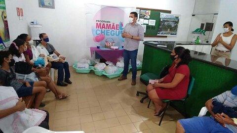 """Mais de 100 gestantes da área rural de Ji-Paraná foram contempladas com kit do """"Mamãe Cheguei"""""""