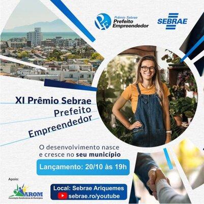 Sebrae lança 9ª Edição do Prêmio Sebrae Prefeito Empreendedor