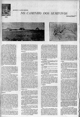 A Terceira Margem – Parte CCCXXV - Expedição Centenária Roosevelt-Rondon 3ª Parte – XXXIII  No Caminho dos Semivivos - III