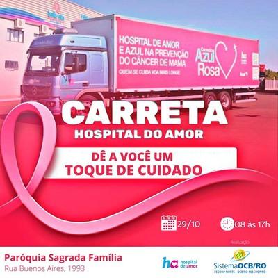 Outubro Rosa: Sistema OCB/RO em parceria com o Hospital de Amor levará atendimento preventivo à população